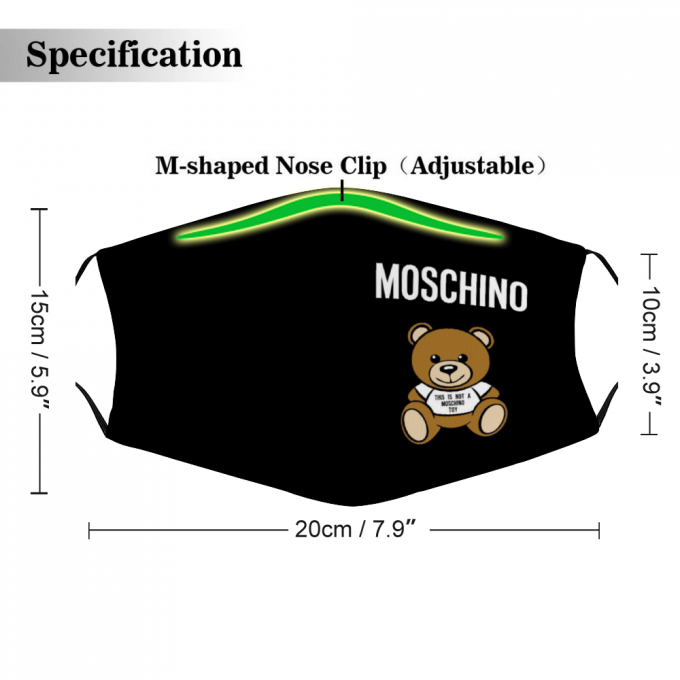 Moschino Face Mask + Filters PM2.5