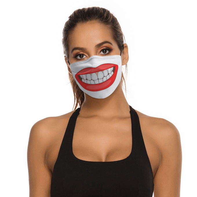 Red Big Mouth Face Mask + Filters PM2.5