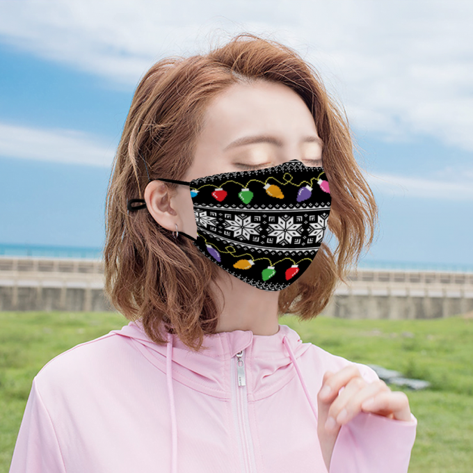 Ugly Sweater Face Mask + Filters PM2.5