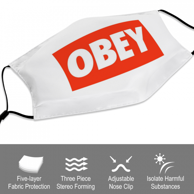 Obey Logo Face Mask + Filters PM2.5