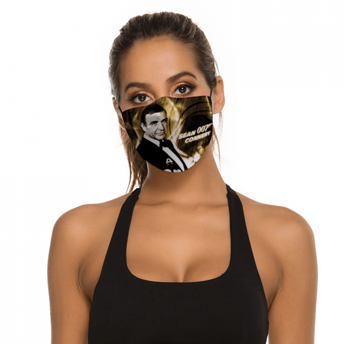 Sean Connery 007 Face Mask + Filters PM2.5