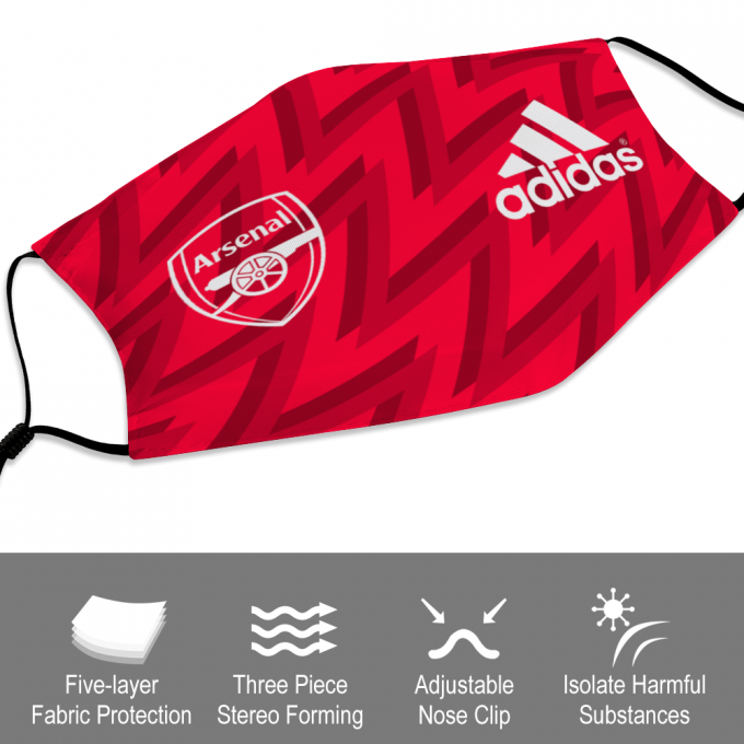Arsenal Adidas Face Mask + Filters PM2.5