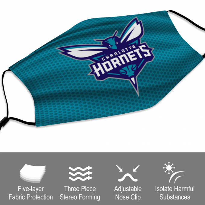 Charlotte Hornets Face Mask + Filters PM2.5