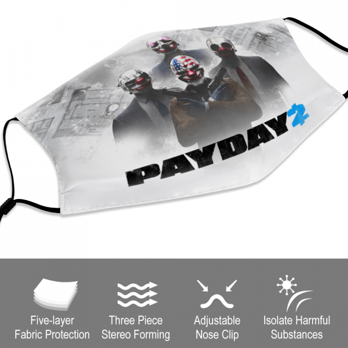 Payday 2 Face Mask + Filters PM2.5