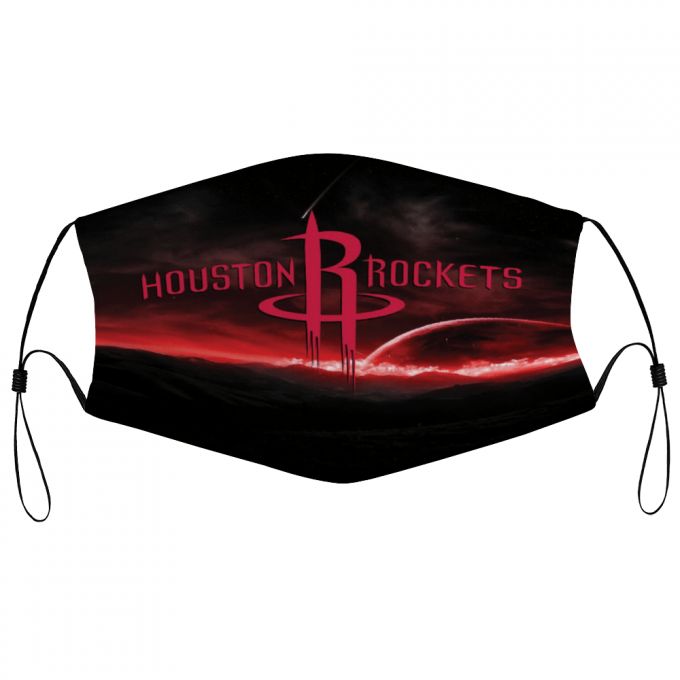 Houston Rockets Face Mask + Filters PM2.5