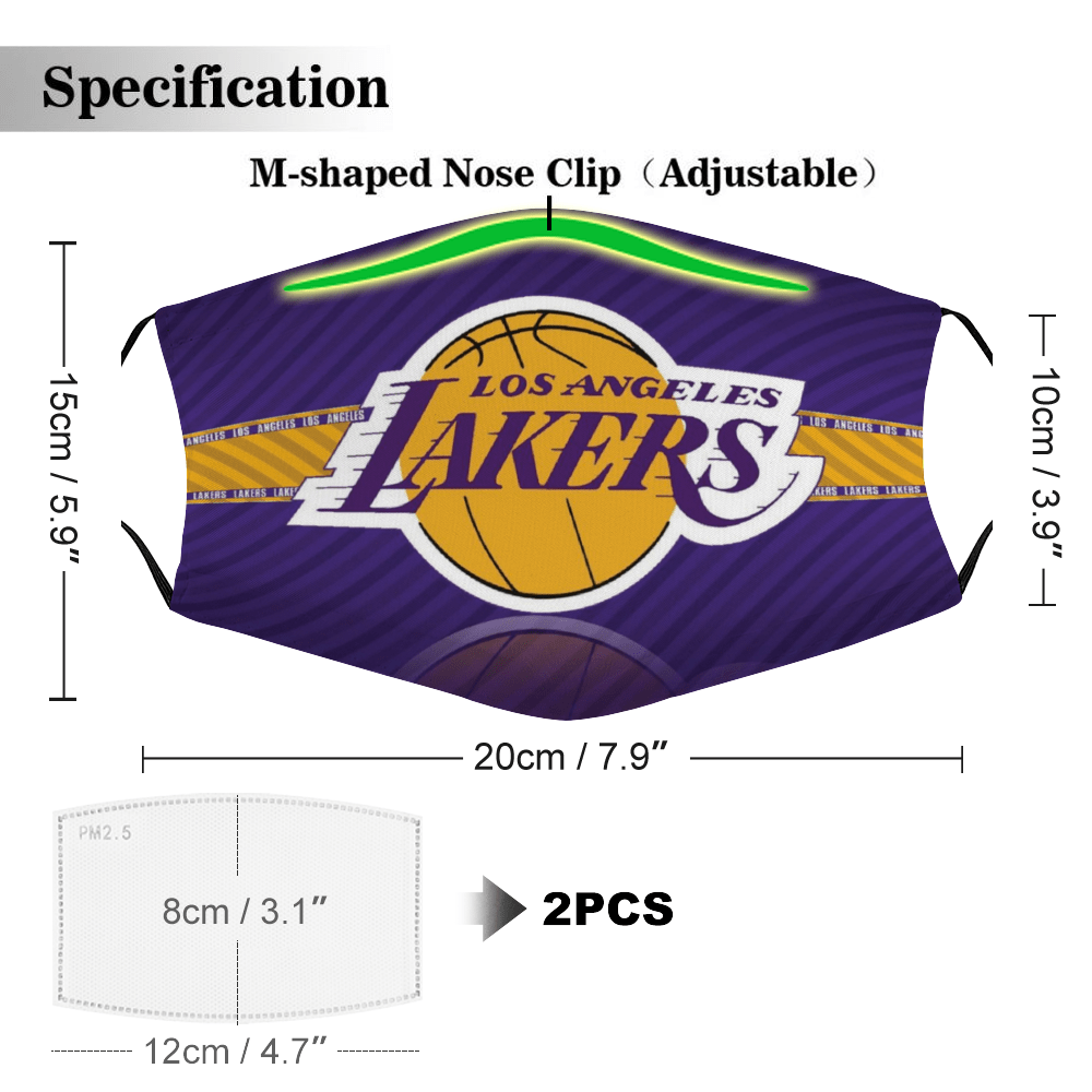 Los Angeles Lakers Face Mask + Filters PM2.5