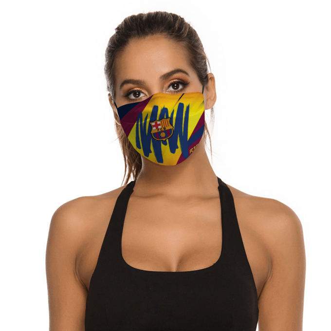 FC Barcelona Face Mask + Filters PM2.5