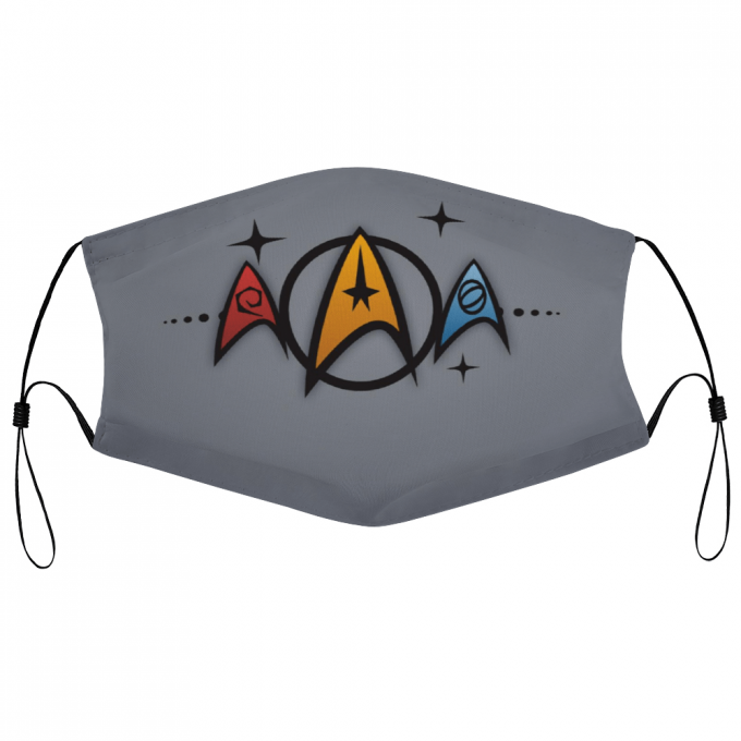 Star Trek Face Mask + Filters PM2.5