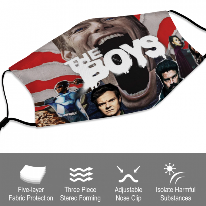 The Boys Face Mask + Filters PM2.5