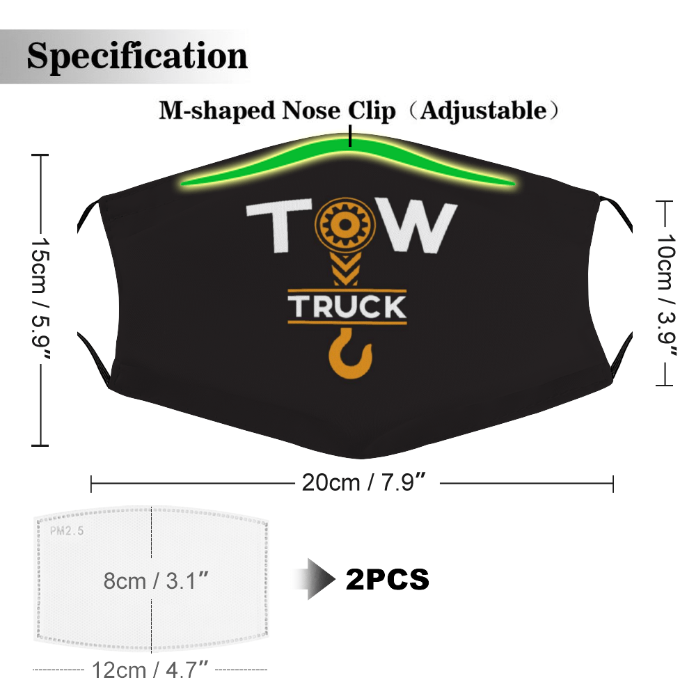 Tow Truck Face Mask + Filters PM2.5