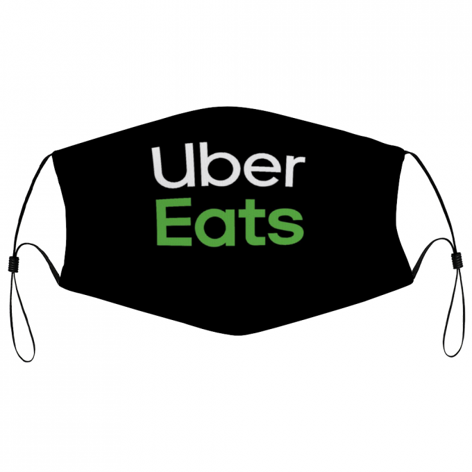 Uber Eats Face Mask + Filters PM2.5