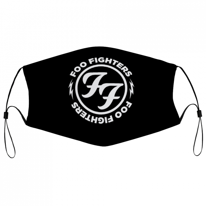 Foo Fighters Face Mask + Filters PM2.5